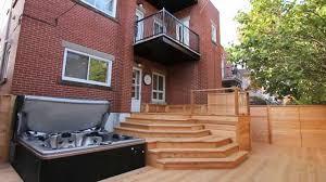 wood deck design paquette by patios et clôtures beaulieu lasalle