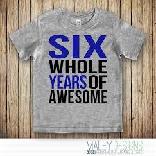 6th birthday shirt boy 6 year boy birthday shirt six
