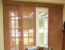 Patio Door Sliding Panels Bamboo Sliding Panels Panel Track Blinds
