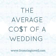 what is the average cost of a wedding 140 the average cost of a wedding from ring to veil wedding