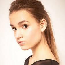 pierced ears without earrings buy big pop style design metal letters ear hook ear