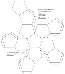 blank dodecahedron printable template free printable papercraft