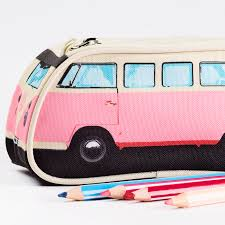 volkswagen camper pink pink vw camper pencil case flamingo gifts