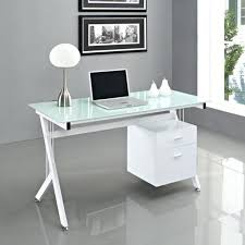 Glass Corner Computer Desks For Home Desk Chic Frosted Glass Computer Desk Desk Design Frosted Glass