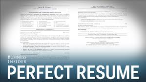 tips for a good resume a resume expert reveals what a perfect resume looks like youtube
