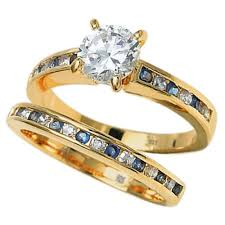 sterling wedding rings images 925 sterling silver blue sapphire cubic zirconia wedding ring set jpg