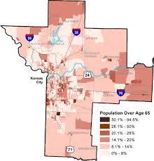 kansas city metro map census 2000 kansas city metro region population 65 map