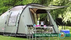 coleman mackenzie cabin 6 premium family camping tent youtube