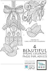 4 beautiful spring coloring pages adults favecrafts