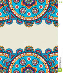 doodle indian indian doodle floral borders frame stock vector image 75610821