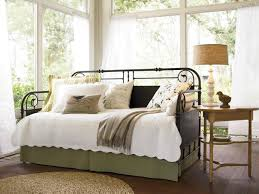 Wrought Iron Daybed Daybeds Modern Wrought Iron Daybed With White Bedding Set