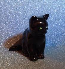 w r midwinter burslem black cat ornament ebay