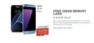 Memory Card Samsung 256gb deal buy samsung galaxy s7 and s7 edge and get samsung evo 256 gb