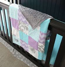 aqua and purple baby bedding pictures reference