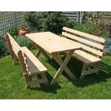 Build Your Own Round Wood Picnic Table by Build Your Own Wood Picnic Table Family Size Park Style Indoor Or