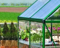 Palram Harmony 6 X 8 Palram Hybrid 6x8 Green Polycarbonate Greenhouse