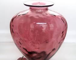 Tall Purple Vase 14 Inch Glass Vase Etsy