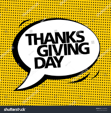 thanksgiving day vector speech stock vector 341459696