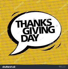 thanksgiving day vector speech stock vector 341459696