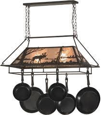 kitchen island pot rack lighting rustic hanging pot racks kitchen trendyexaminer