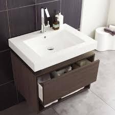hudson reed recess wall mounted bathroom vanity unit 700mm wide dark o
