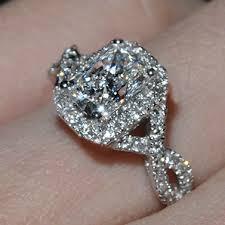 aliexpress promise rings images Buy luxury wedding ring 2 carat cushion cut sona jpg