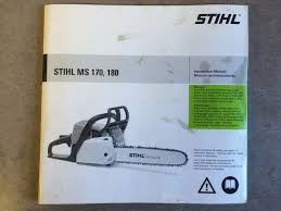 stihl ms 170 ms 180 chainsaw instruction operator u0027s manual