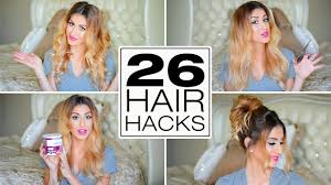 26 lazy hair hacks you need to know youtube