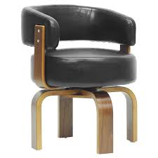 Modern Accent Furniture by Baxton Studio Fortson Modern Accent Chair Walnut Black Hayneedle