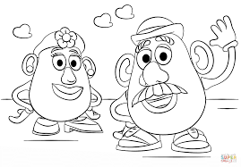 mr and mrs potato head coloring page free printable coloring pages