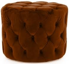 buy vida living perkins footstool pumpkin online cfs uk