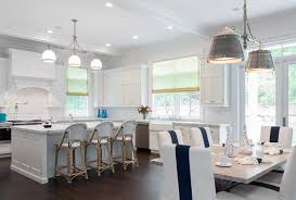 Kitchen Open To Dining Room Cool White Kitchen And Dining Room Contemporary Best Inspiration