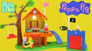 rabbit treehouse peppa pig toys treehouse and george fort playset with richard
