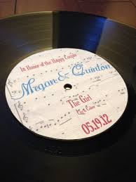 personalized record album lp vinyl record album with personalized center labels wedding