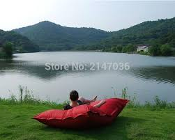 oversized luxury comfortably accommodate two adults float beanbag
