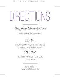 Direction Map Wedding Invitation Directions Card Wedding Reception Direction