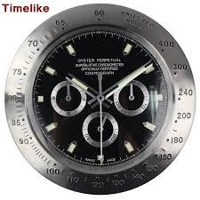 best wall clocks hot sale silver metal black face wall clock wristwatch for best