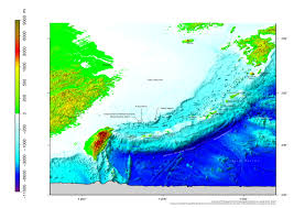 East China Sea Map Topography Of Seabed Around Senkaku Islands Review Of Island Studies