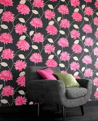 pink wallpaper for walls black flower wallpaper for walls dayri me