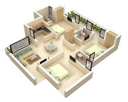 3d small house open floor plans house plans
