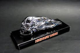 highway hawk custom motorcycle skull fender ornament universal