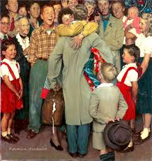 homecoming norman rockwell painting 1948 rebrn