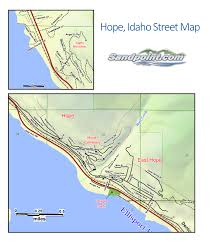 Map Of Idaho Cities Welcome To Hope Idaho All Information Links And Maps
