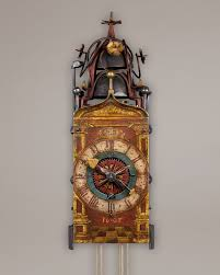 German Clocks Early 17th Century Gothic Chamber Clock 1607 Swiss Or South