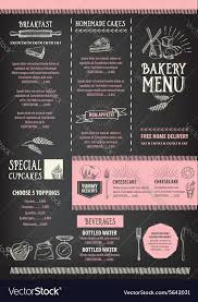 flyer menu template restaurant cafe menu template design food flyer vector image
