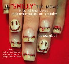 diy halloween nails smiley the movie nail art design tutorial