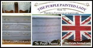 painting laminate or formica tops of dressers the purple painted