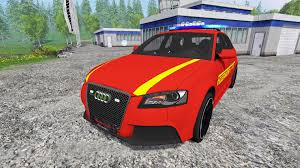 audi rs3 mods audi rs3 8pa feuerwehr v0 9 for farming simulator 2015