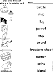 matching words and pictures worksheets enchantedlearning com