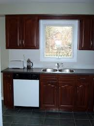 Restaining Kitchen Cabinets Darker Delightful Interior Design Of Minimalist Home Kitchen Ideas